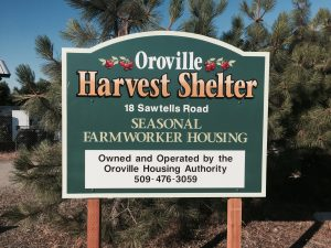 Oroville Harvest Shelter - Project Sign